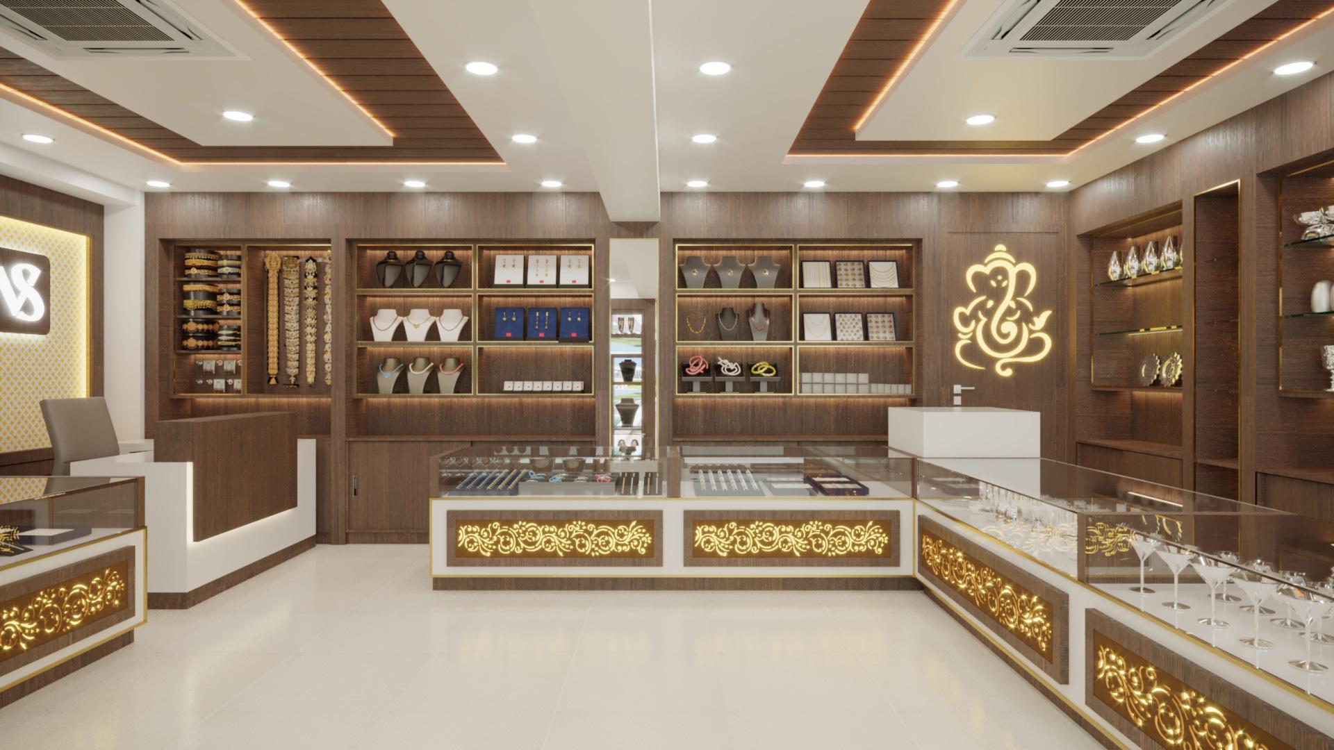 Viswasri Silver Jewelry Shop Interior